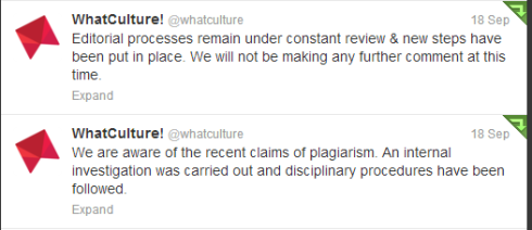 WhatCulture! Initial Statement